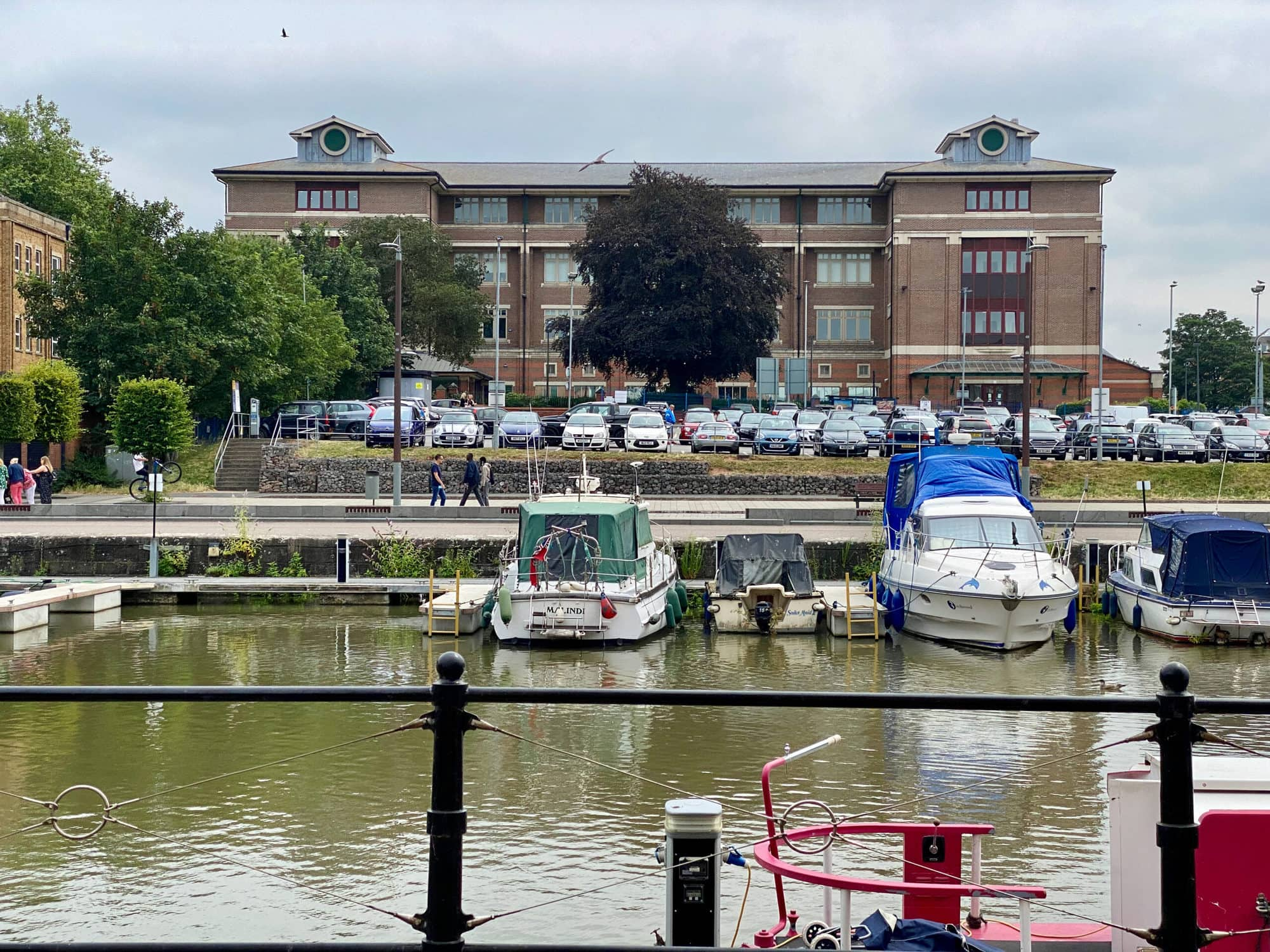 Southgate House seen from Gloucester Docks